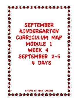 Week 4 Kindergarten Curriculum Aligned to Common Core Standards