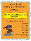 Week 4 Math Spiral Morning Work/Homework Bundle