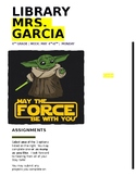 EDITABLE- STAR WARS DAY- Library Lessons- Grades: 4th,5th,6th