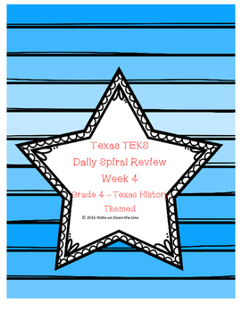 Week 4 Weekly TEKS Spiral