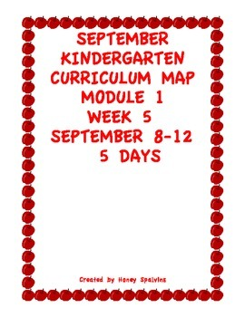 Week 5 Kindergarten Curriculum Aligned to the Common Core