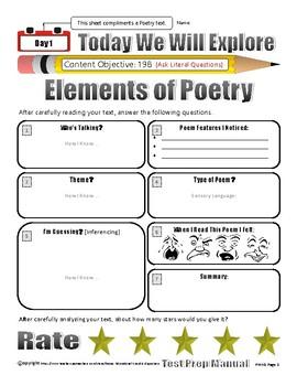 Week 5 STAAR Test Prep Poetry Bundle/Pack