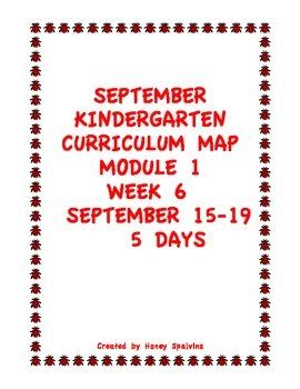 Week 6 Kindergarten Curriculum Aligned to Common Core Standards