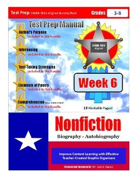 Week 6 STAAR Test Prep Biography-Autobiography Bundle/Pack