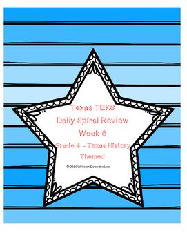 Week 6 Weekly TEKS Spiral