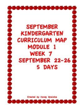 Week 7 Kindergarten Curriculum Aligned to Common Core Standards
