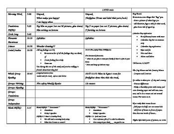 Week 7 Kindergarten Lesson Plans Theme 1 Week 2 Houghton Mifflin, Fire safety