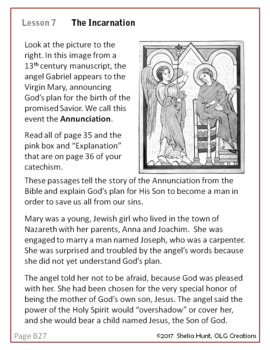 Week 7, St Joseph Baltimore Catechism I, Lesson Plans, Worksheets & Answer Key