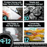 Week 9-12 of 7th Grade Math Workshop Activities   TEKS CCS