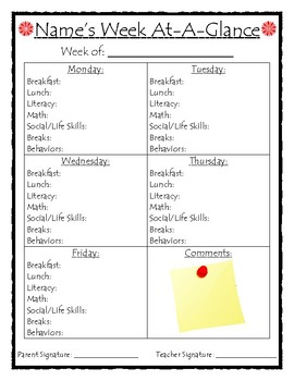 Week At-A-Glance