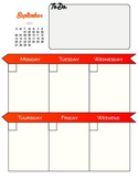Week At A Glance Planner 2015-2016
