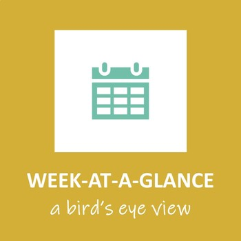 Week At A Glance Planning Template (Single Subject)