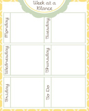 Week At A Glance (yellow/teal) (one page)