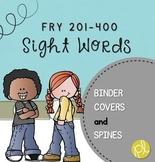 Free Binder Covers for Week-By-Week Complete Sight Word Program Fry 201-400