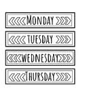 Week Day Labels