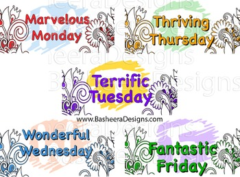 Week Days Magnets Stickers Poster Phonics Blending Fantastic Friday