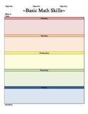 Week Lesson Plan Template