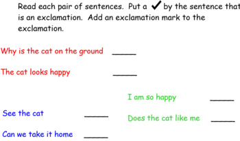 Week Long Exclamatory Sentences Smartboard Activity