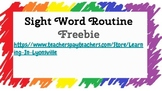 Week Long Sight Word Routine using Fry Lists