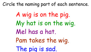Week Long Smartboard Activity For Identifying the Subject in a Sentence