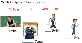 Week Long Special Titles Smartboard Activity