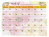 Week Of _______ Pretty Calendar