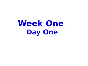Week One PowerPoint for Lesson Plan- 5th grade Social Studies - U.S. History