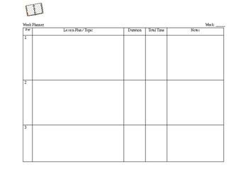 Week Planner Template