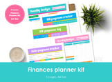 Finance planner kit printable. A4 Size. Bill and debt tracker.