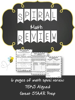 Week Spiral Math Review- 4th Grade Texas