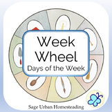 Week Wheel for Color Days of the Week and Waldorf Activities