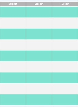 Week at a Glance Colorful Teacher Planner
