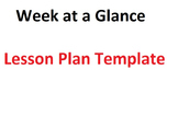 Week at a Glance- Lesson Plan Template