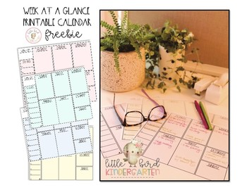 Week-at-a-Glance Printable FREEBIE