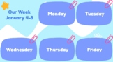 Week at a Glance Student Planner