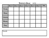 Week at a Glance- Teachers