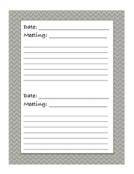 Week-at-a-Glance and Meeting Notes (Chevron)