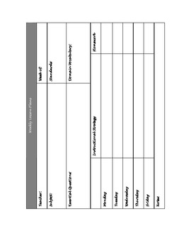Week-at-a-glance lesson plans
