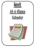 Week-at-at-glance Calendar