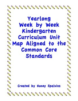 Week by Week Kindergarten Curriculum Map Aligned to the Common Core Standards