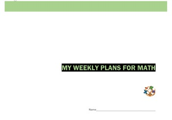 Week by Week Math Planner - Template