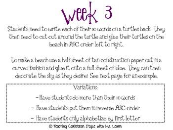 Week by Week Phonics Activities