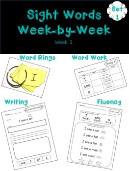 Sight Words in Context Week 1 SAMPLE FREEBIE