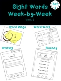 Sight Words in Context Week 1 SAMPLE FREEBIE