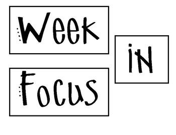Week in Focus Bulletin Board Header