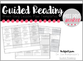 Week-long Guided Reading Lesson Plan Templates (Jan Richardson's GR Templates)
