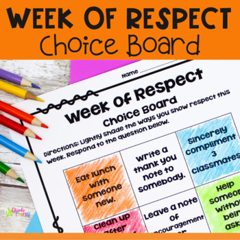 Week of Respect Choice Board