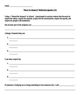Week of Respect Whole-School Activities