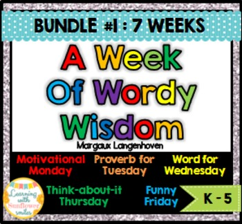 Week of Words - Bundle First 7 weeks