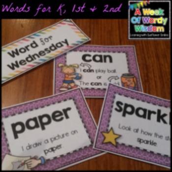 Week of Words - Week 2